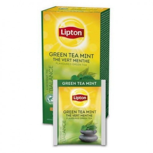 Чай зел.Lipton Green Tea з мятою 25*1,6г.