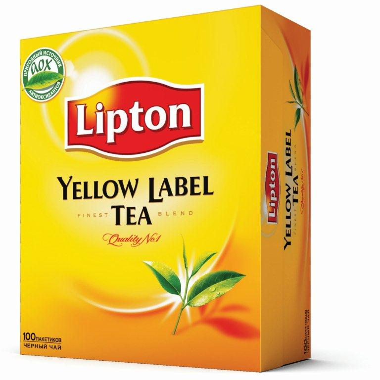 Чай ч/п Lipton Yellow Label Tea 12*100 пак